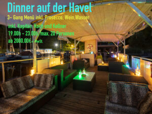 Dinner auf der Havel
