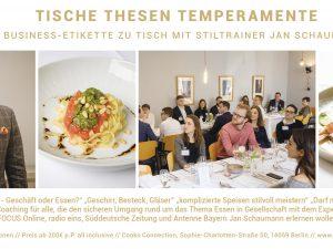 Neu – Business Etikette mit Jan Schaumann