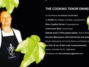 THE COOKING TENOR DINNER SHOW